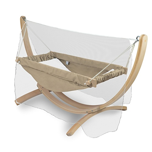 Horizontal Baby Hammock With Wooden Stand