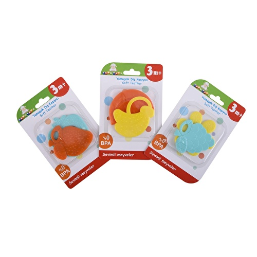 Cute Fruits Teether 2pcs Assorted