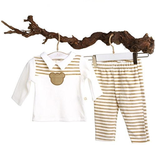 Baby Boy David Neck Sweatshirt Trousers 2 pcs Set