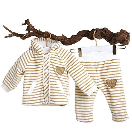 David Welsoft Erkek Bebek Sweatshirt Tek Alt 2li Takım