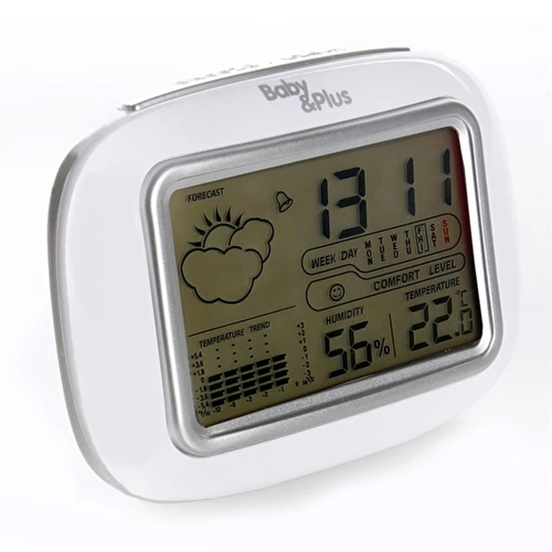 Baby 6637 Digital Table Clock Humidity and Temperature Meter