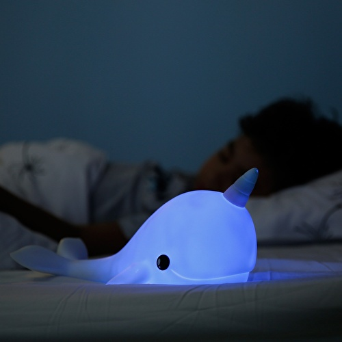Narwhal Night Light Blue