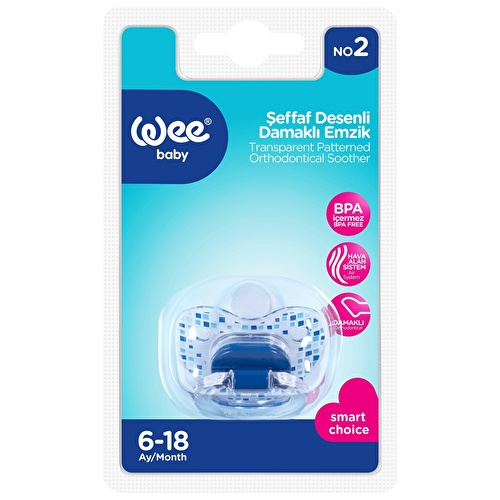 Assorted 836 Transparent Patterned Orthodontic Pacifier