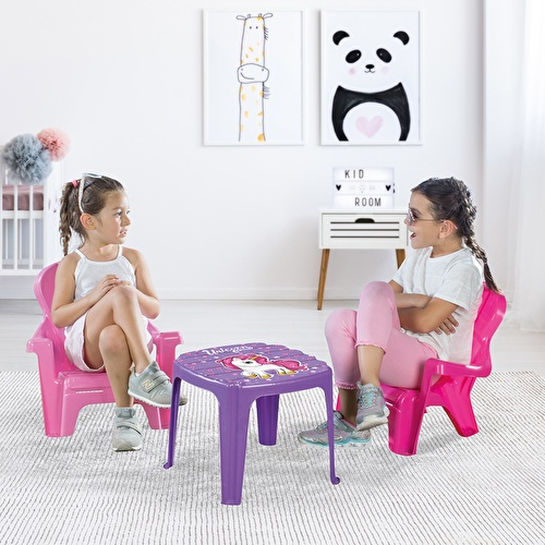 Unicorn Baby Table & 2 Chair Set