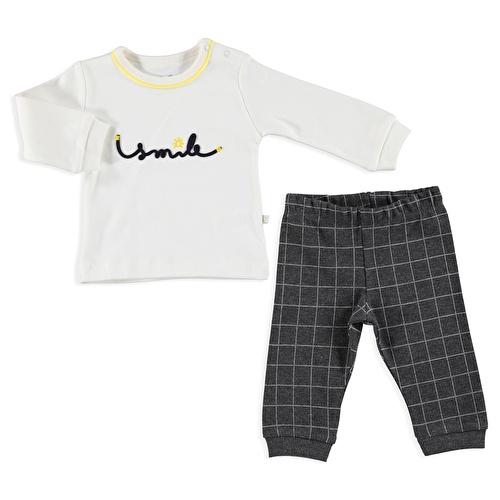 Winter Smile Baby Polo Neck Sweatshirt Footed Pants 2 pcs Set