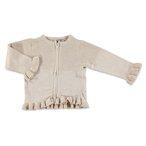 Winter Ruffled Snaps Baby Knit Cardigan