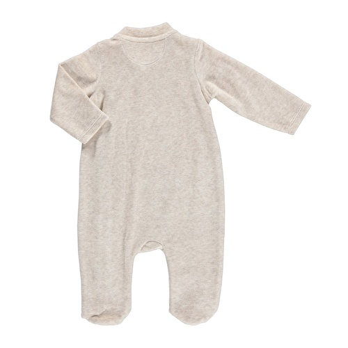 Bebek Nakışlı Çıtçıtlı Patikli Kadife Tulum