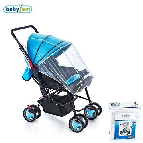 Baby Stroller Insect Netting White