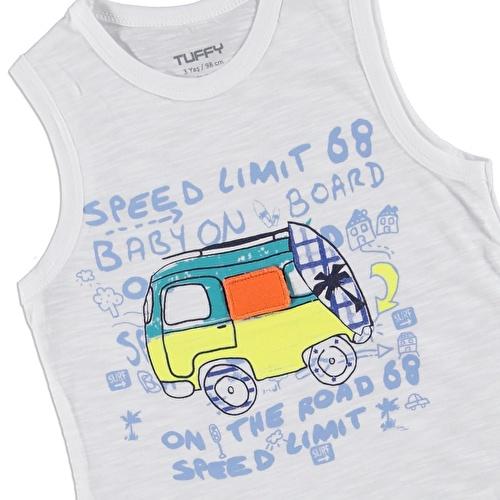 Erkek Bebek Speed Limit Kolsuz T-shirt