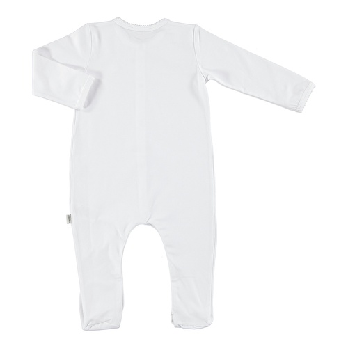 Baby Organic White Footed Romper