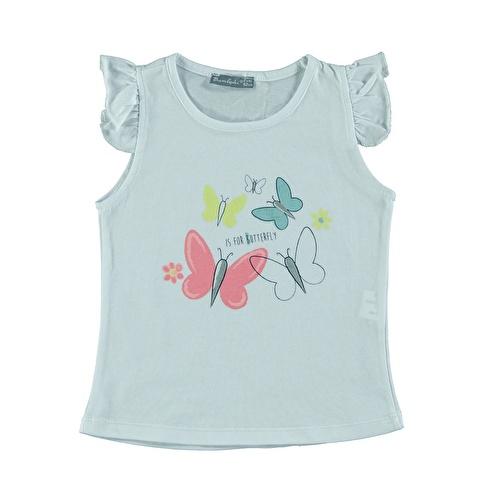 Kız Bebek Renkli Kelebekler Süprem Tshirt