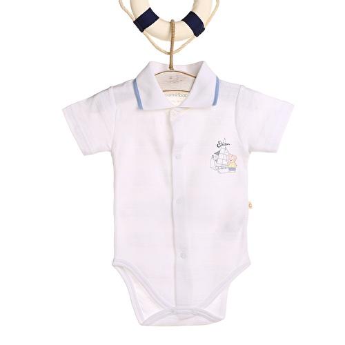 Jakarlı İnterlok Erkek Bebek Kısa Kol Body