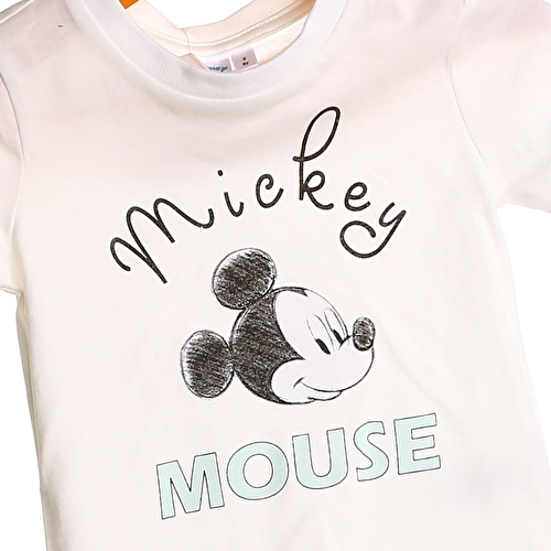 Baby Boy Mickey Mouse Printed Short Sleeve Tshirt