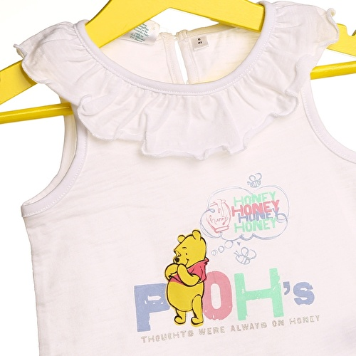 Baby Girl Winnie The Pooh Neck Detailed Tshirt