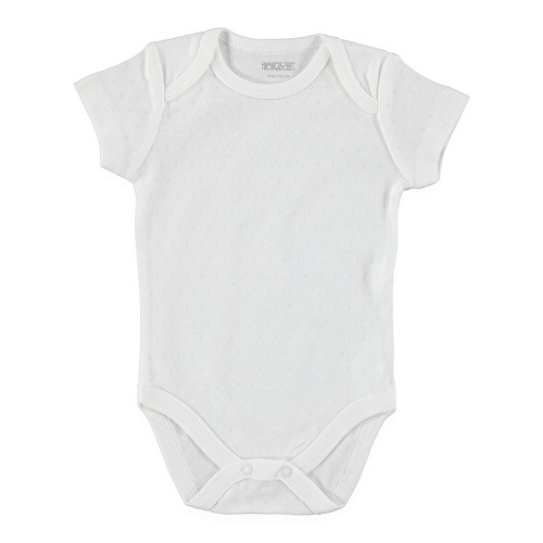 Bebek Jakarlı Kısa Kol Body
