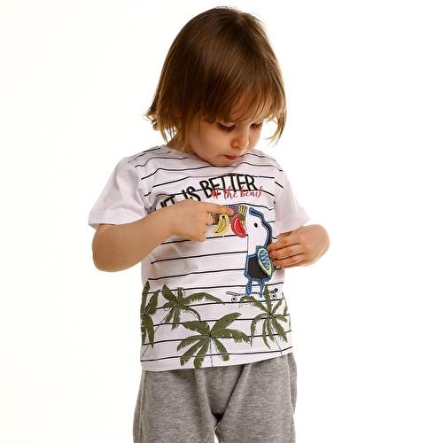 Erkek Bebek Life İs Better Süprem Tshirt