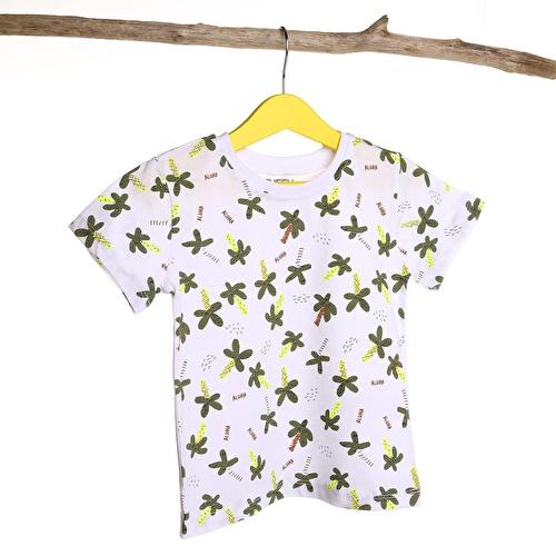 Erkek Bebek Bisiklet Yaka Palmiye Süprem Tshirt