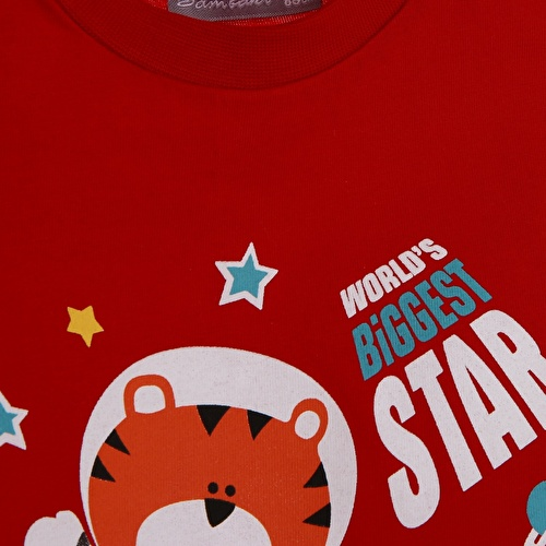 Baby Boy Astronaut Cat Printed Athlete