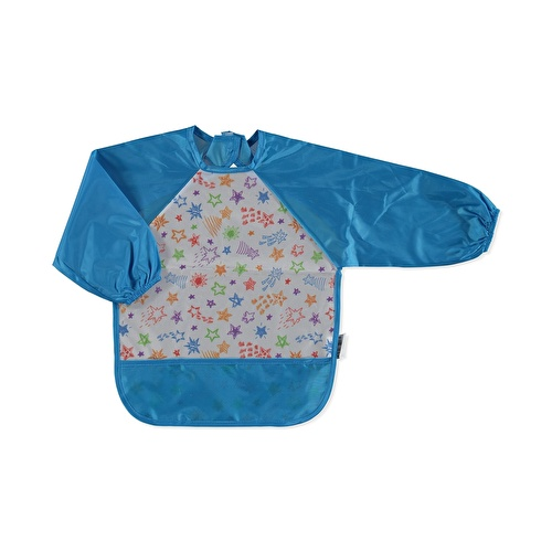 Long Sleeve Baby Patterned Activity Apron/Bib