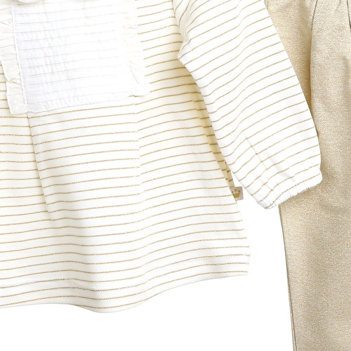 Mary Baby Girl Peter Pan Collar Sweatshirt Rib Trousers