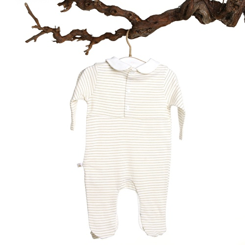 Mary Baby Girl Peter Pan Collar Romper