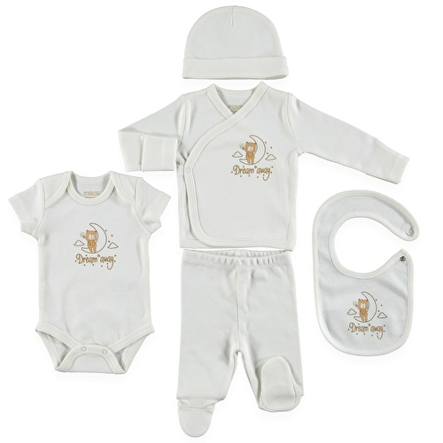 Organic Boxed Newborn Hospital Pack 5 pcs (Newborn Baby Boy Clothes Toddler Infant Set)