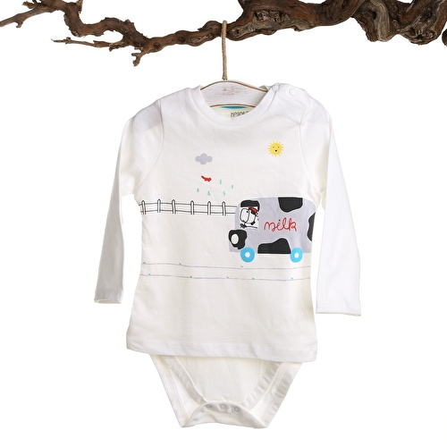 Baby Boy Fresh Milk Bodysuit