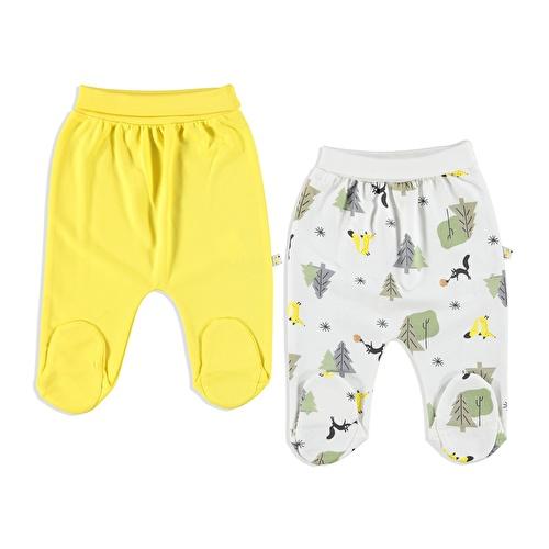 Little Fox Interlock Baby Footed Pants 2 pcs