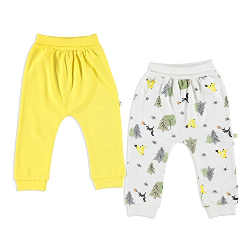 Little Fox Interlock Baby Trousers 2 pcs
