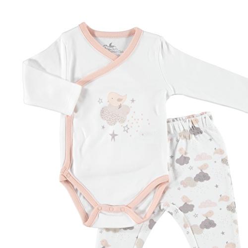 Neşeli Kış Bebek Zıbın Body Patikli Alt