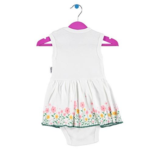 Kız Bebek Çiçek Baskılı Elbise Body