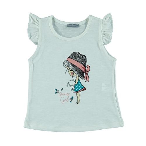 Kız Bebek Romantic Girl Baskılı Kız Süprem Tshirt