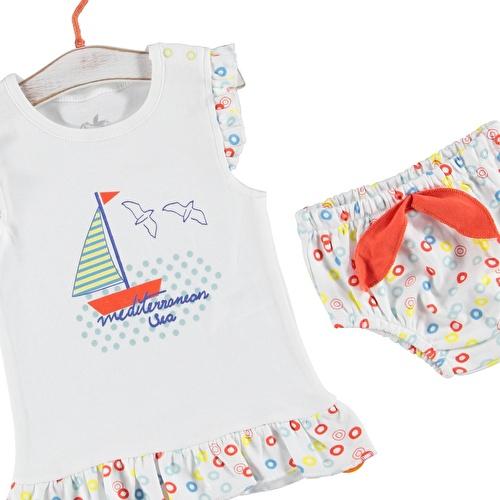 Fun Summer Baby Girl Ruffled Tshirt