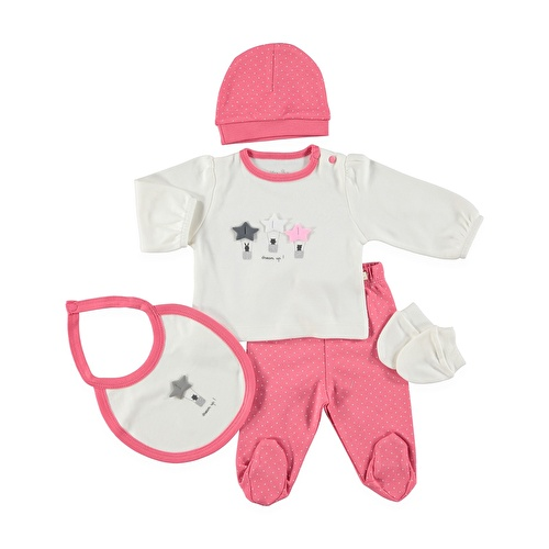 Pamela Newborn Hospital Pack 5 pcs (Newborn Baby Girl Clothes Toddler Infant Set)