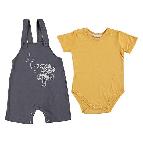 Erkek Bebek Arizona 2'Li Salopet Body Takım