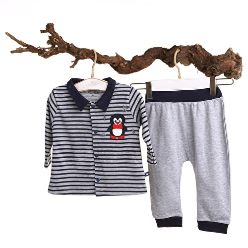 Baby Boy MartinRib Sweatshirt Trousers Set
