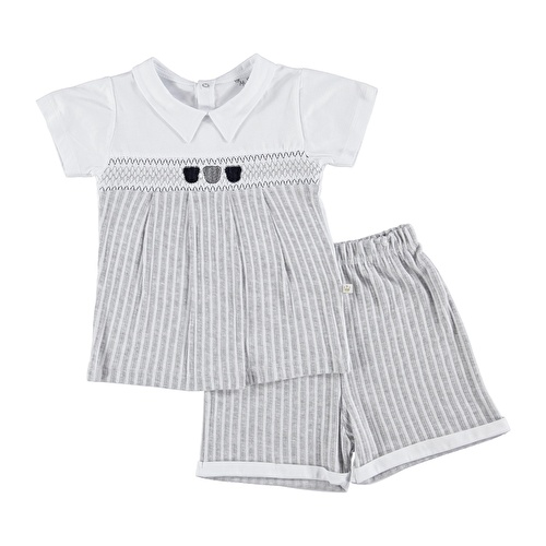 Baby Boy Rhythm Polo NeckBoy Tshirt Short Set
