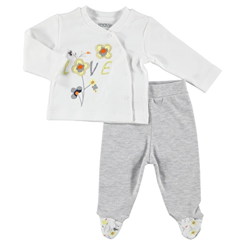 Kız Bebek Love Tema Kolsuz Elbise