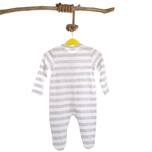 Baby Boy Cat Rib Romper