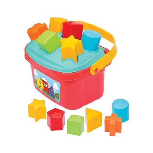 Baby Shape Sorter Puzzle Bucket with Basket