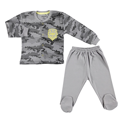 Camouflage Baby Snaps Cardigan Footed Pants 2 pcs