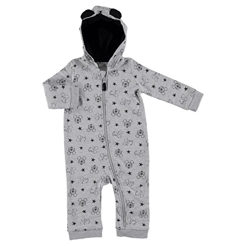 Mickey Mouse Licensed Hoodie Zippered Romper