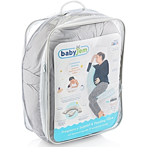 Back-Support Pregnant and Breastfeeding Pillow Gray