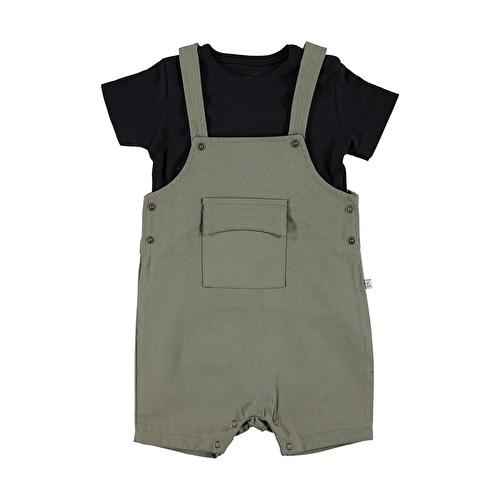 Baby Boy Camouflage Shorts Jumpsuit Tshirt Set