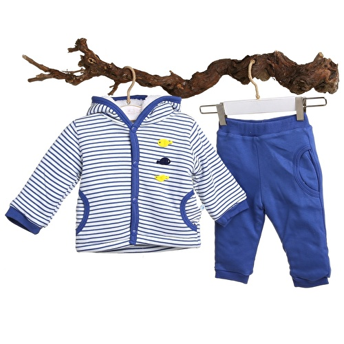 Fish Baby Welsoft Cardigan Trousers Set