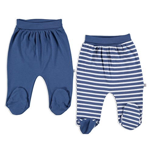 Camping Interlock Baby Footed Pants 2 pcs