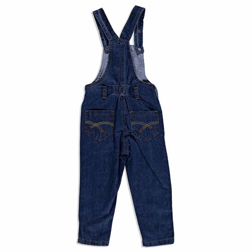 Sea Embroidered Cotton Baby Dungarees