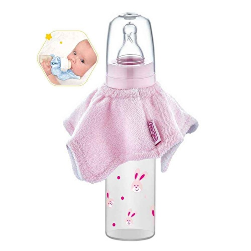 Baby Bottle Apron Pink