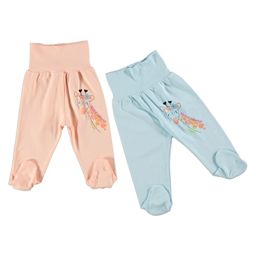 Baby Girl Giraffe with Glasses Print Trousers