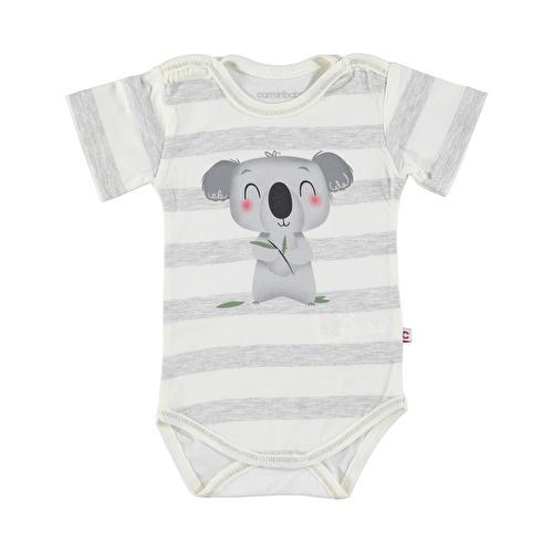 Koala Baskılı Süprem Erkek Bebek Kısa Kol Body